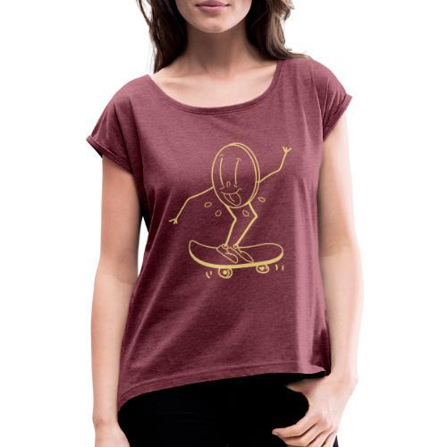 coso skate - Maglietta da donna con risvolti