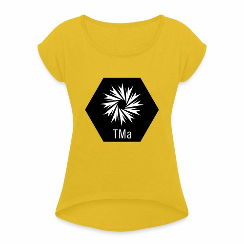 TMa - Naisten T-paita, jossa rullatut hihat