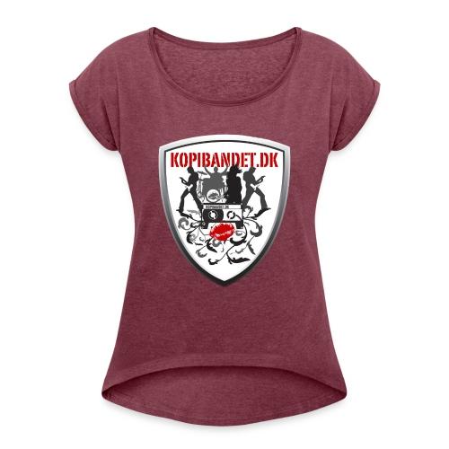 KopiBandet.DK Våbenskjold - Dame T-shirt med rulleærmer