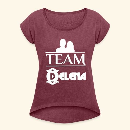 Team Delena - Women's T-Shirt with rolled up sleeves