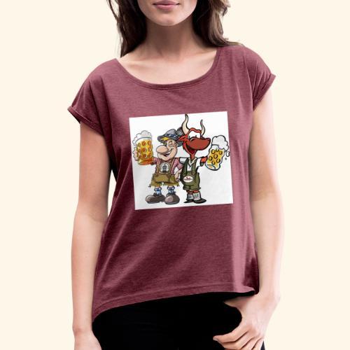 Prost - Frauen T-Shirt mit gerollten Ärmeln