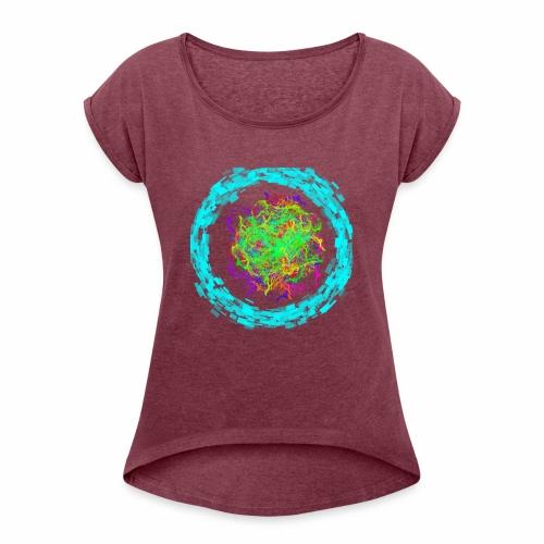 crazy - Frauen T-Shirt mit gerollten Ärmeln