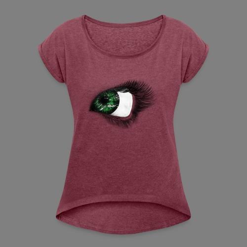 Auge 1 - Frauen T-Shirt mit gerollten Ärmeln