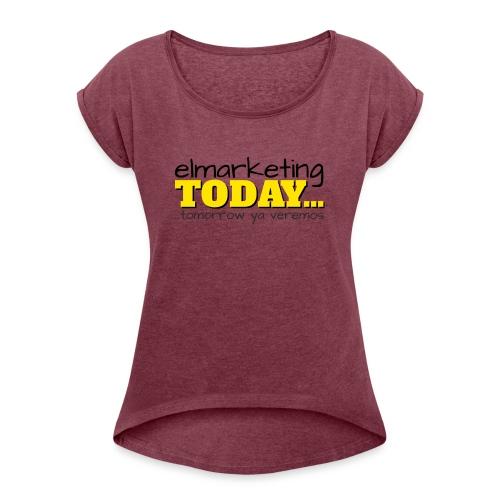 LOGOTIPO - Camiseta con manga enrollada mujer
