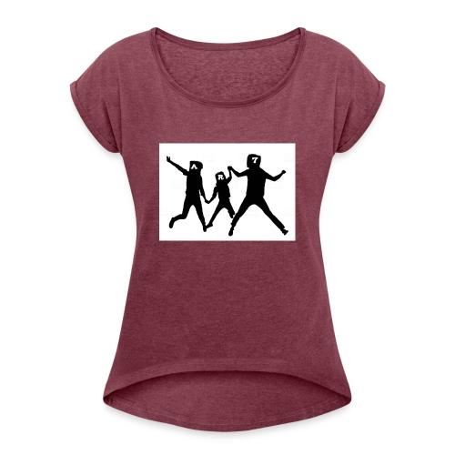 familia ar7 - Camiseta con manga enrollada mujer