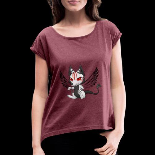 Démon Wolfire - T-shirt à manches retroussées Femme