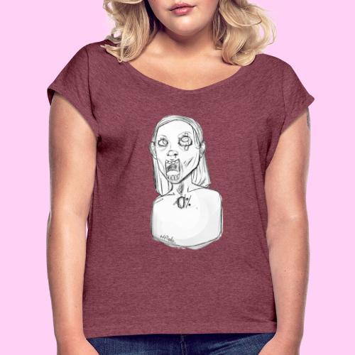 Totalne zero - Koszulka damska z lekko podwiniętymi rękawami