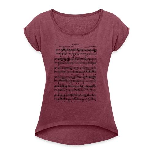 Rachmaninov Romance 1 - T-skjorte med rulleermer for kvinner