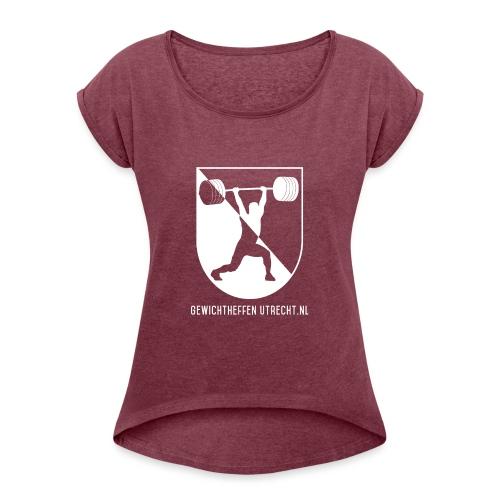Gewichtheffen Utrecht Logo Shirt - Vrouwen T-shirt met opgerolde mouwen
