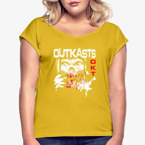 Outkasts Scum OKT Front - Women's T-Shirt with rolled up sleeves