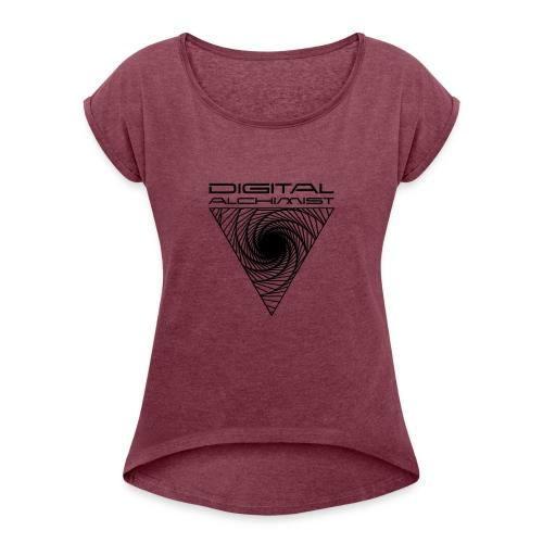 Digital Alchimist - Frauen T-Shirt mit gerollten Ärmeln