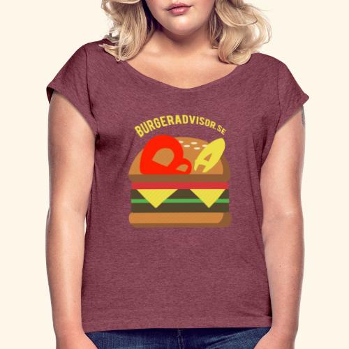 BA logolink200dpi - Women's T-Shirt with rolled up sleeves