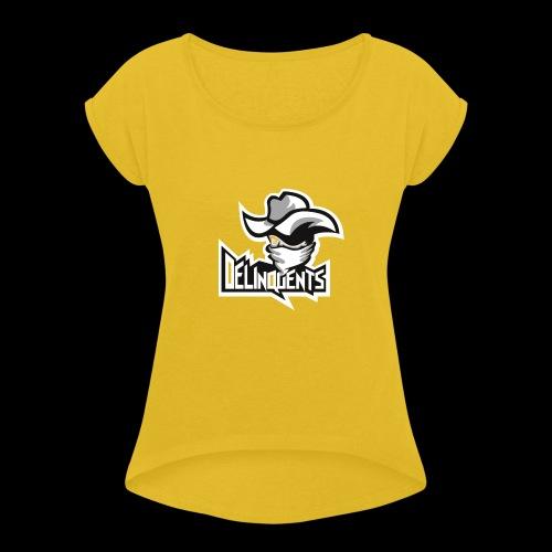 Delinquents TriColor - Dame T-shirt med rulleærmer