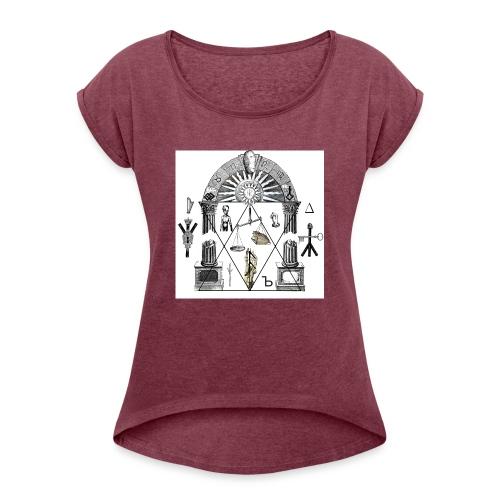 A foot Littler - T-shirt med upprullade ärmar dam