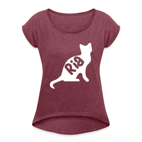 Team Ria Cat - Women's T-Shirt with rolled up sleeves