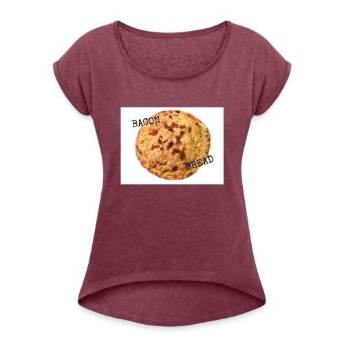 BaconBread Classic - T-skjorte med rulleermer for kvinner