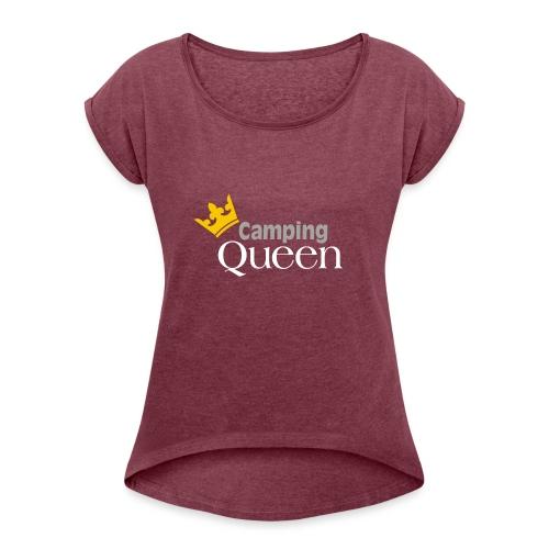 Queen - Frauen T-Shirt mit gerollten Ärmeln