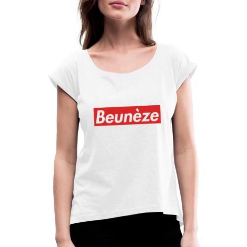 Beunèze - T-shirt à manches retroussées Femme