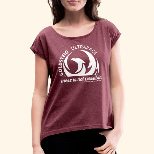 Goldsteig Ultrarace Fan Edition - Frauen T-Shirt mit gerollten Ärmeln
