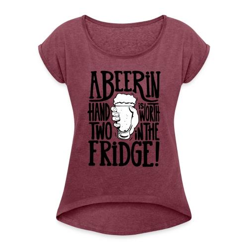 bière - T-shirt à manches retroussées Femme