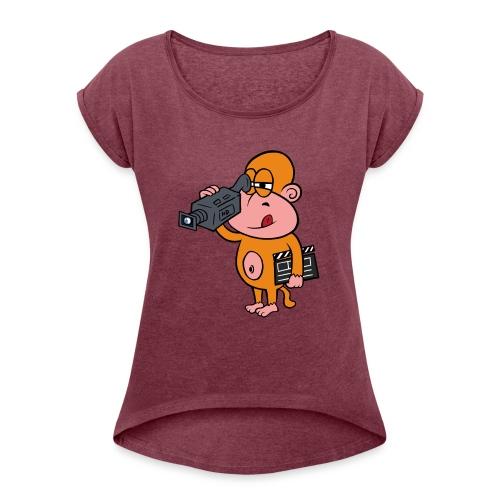 Vivir Rodando - Camiseta con manga enrollada mujer