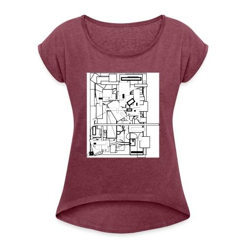 Entrelacé - T-shirt à manches retroussées Femme