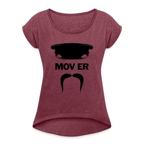 Mover - Naisten T-paita, jossa rullatut hihat