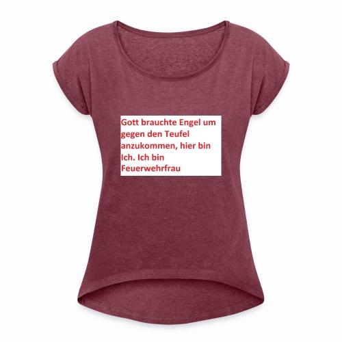 pst2 - Frauen T-Shirt mit gerollten Ärmeln