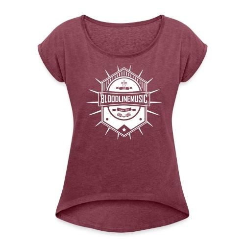 Rucksack/Beutel - Frauen T-Shirt mit gerollten Ärmeln