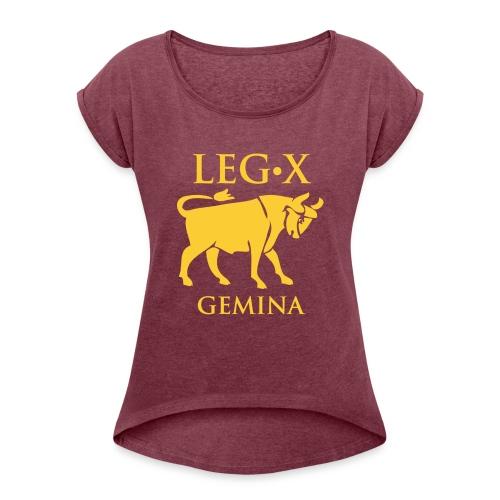 leg_x_gemina - Maglietta da donna con risvolti