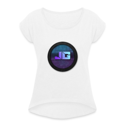 Trui met logo - Vrouwen T-shirt met opgerolde mouwen