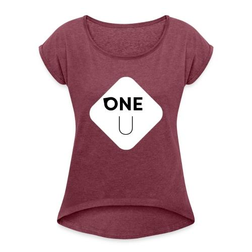 One U - T-shirt med upprullade ärmar dam