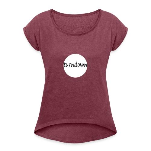 Turndown - Dame T-shirt med rulleærmer