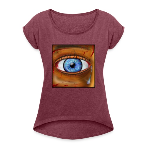 Hyperspace Potato Eye - Women's T-Shirt with rolled up sleeves