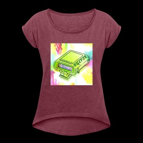 bleeper 3 - Frauen T-Shirt mit gerollten Ärmeln