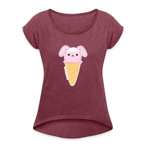(ice)cream Bunny - Maglietta da donna con risvolti