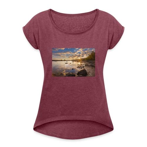 Lac - T-shirt à manches retroussées Femme