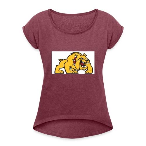 Bulldog logo ml - Camiseta con manga enrollada mujer