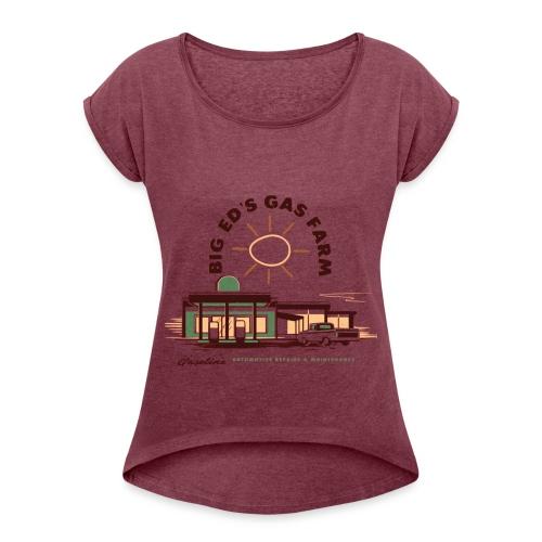BIG ED'S GAS FARM - Maglietta da donna con risvolti