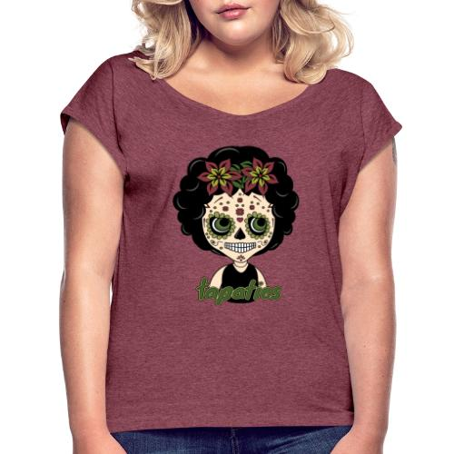 Ojos Tapatios - Camiseta con manga enrollada mujer