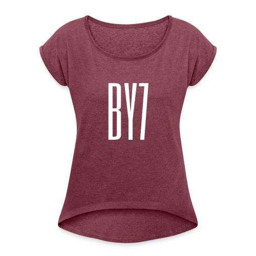 Burak Yigit -BY7 - Frauen T-Shirt mit gerollten Ärmeln