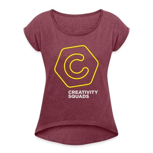 CS Hoodie Pink Unisex - Naisten T-paita, jossa rullatut hihat