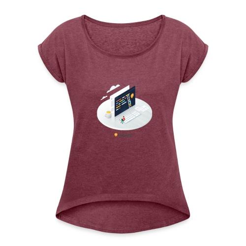 Createur - T-shirt à manches retroussées Femme