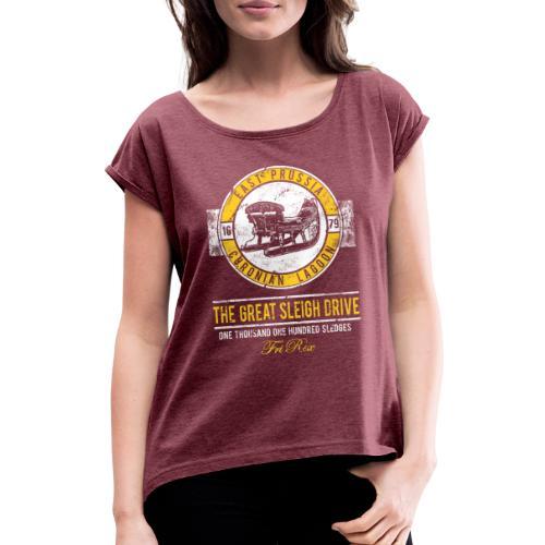 FriRex Schlittenfahrt - Frauen T-Shirt mit gerollten Ärmeln