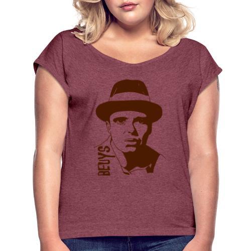 Joseph Beuys - Frauen T-Shirt mit gerollten Ärmeln