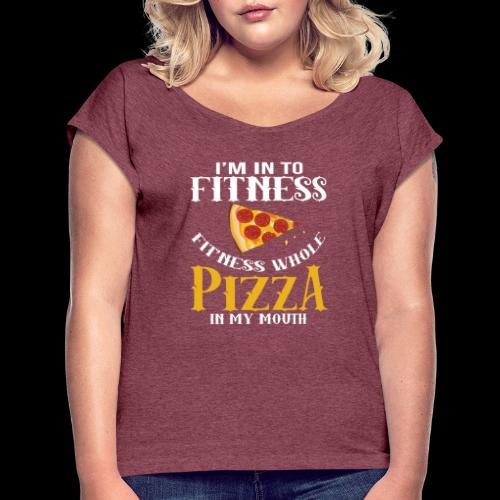 Fitness - Women's T-Shirt with rolled up sleeves