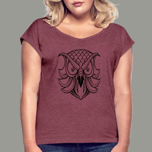 hibou - T-shirt à manches retroussées Femme
