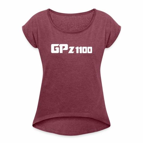 GPz 1100 white - Frauen T-Shirt mit gerollten Ärmeln