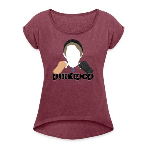A Shame PunkPop - Maglietta da donna con risvolti