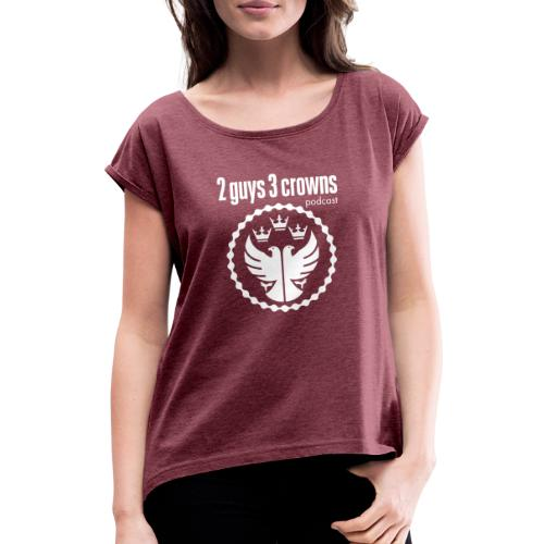Reversed 2G3C Crest - Women's T-Shirt with rolled up sleeves